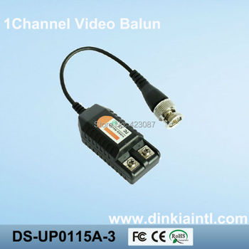 100 adet CCTV 1ch pasif utp video Balun Telsiz bnc cat5 20 çift paketi ds-up0115a