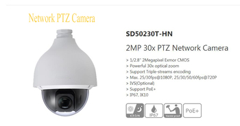 DAHUA 2Mp HD 30x Ultra-high Speed Network PTZ Dome Camera IP67 Vandalproof without Logo SD50230T-HN