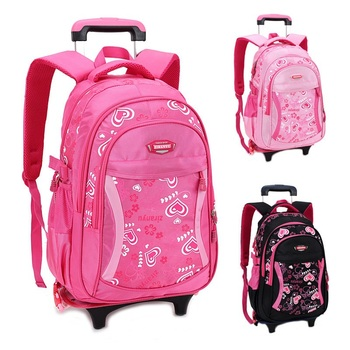 Felicity Children School Bags for Girls Trolley Backpack Wheeled Kids Schoolbag Student Bags Mochila Infantil Bolsas Mochilas