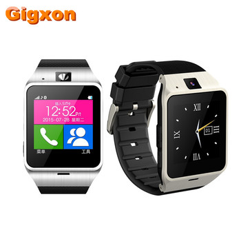 Gigxon-yeni 2016 için destek facebook & whatsapp ve twitter smart watch phone android bluetooth/usb hd kamera mikrofon