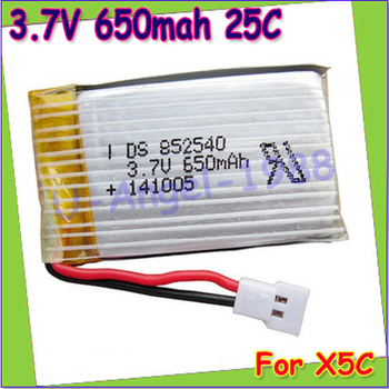 Wholesae 10pcs/lot 3.7V 650mAh Lipo Battery for Syma X5C X5 /syma x5c Upgraded 650mAh battery Register